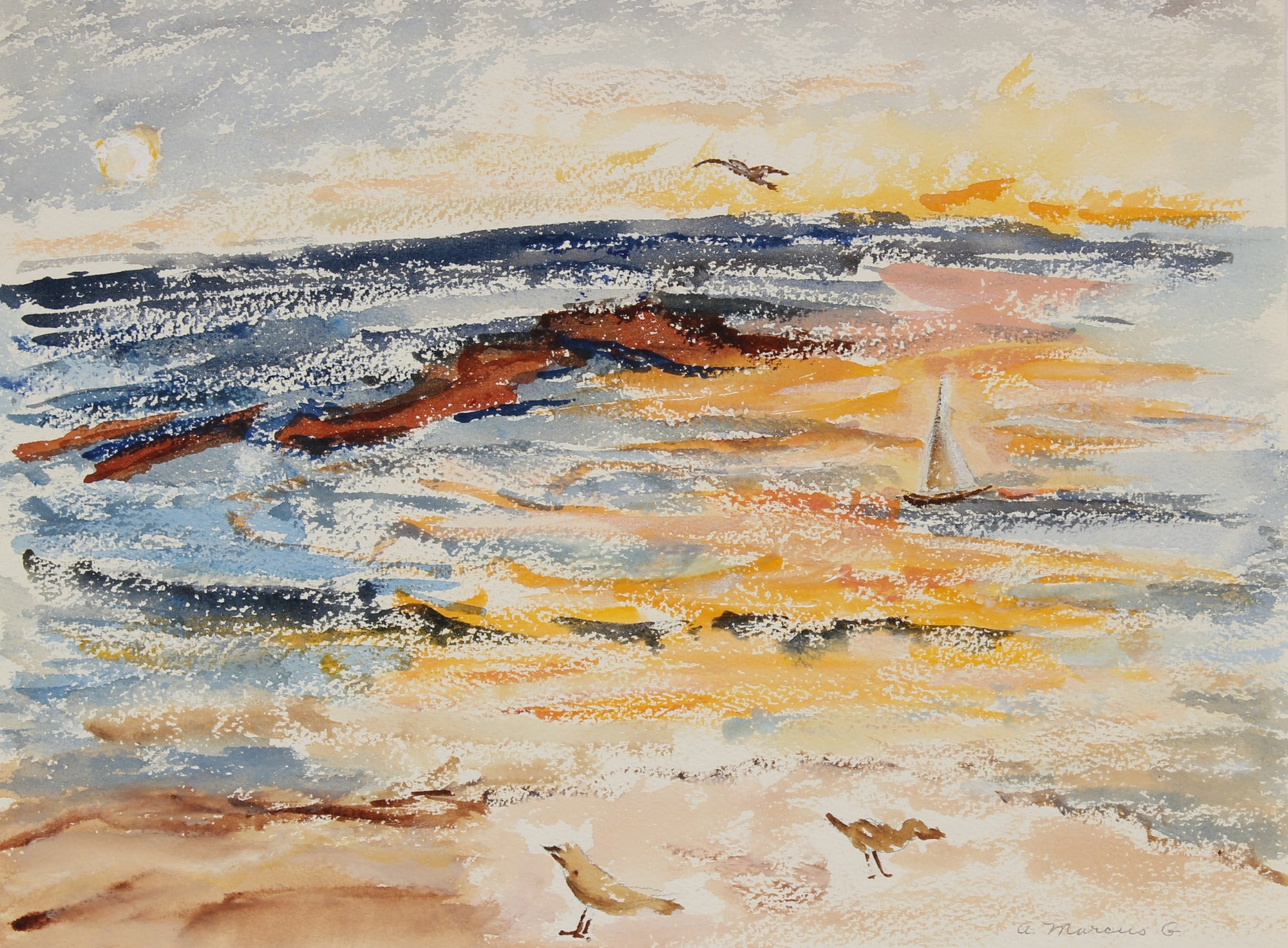 <i>Malibu</i><br>1976 Watercolor<br><br>#89606