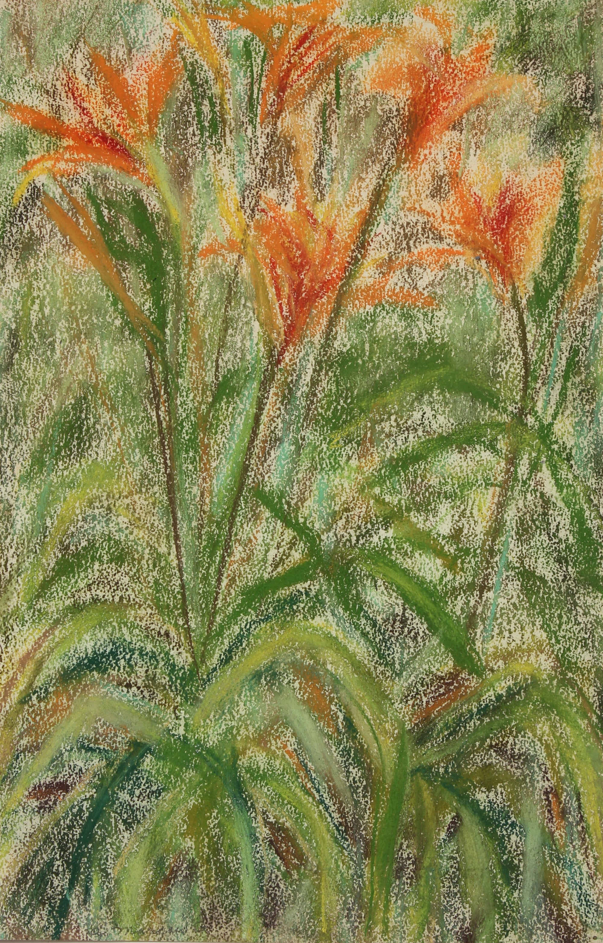 <i>Day Lillies</i><br>Pastel, 1964<br><br>#89623