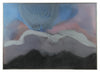Abstracted Hill & Sky <br>1960-70s Oil on Canvas <br><br>#8986