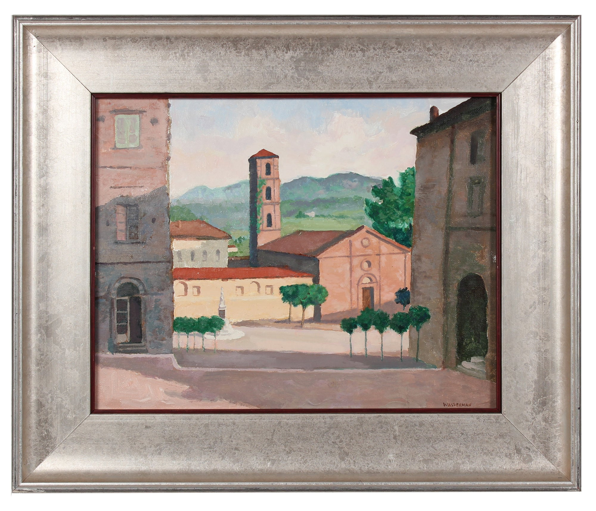 <i>Seartano, Italy</i> <br> Mid-Late 20th Century Oil <br><br>#90541