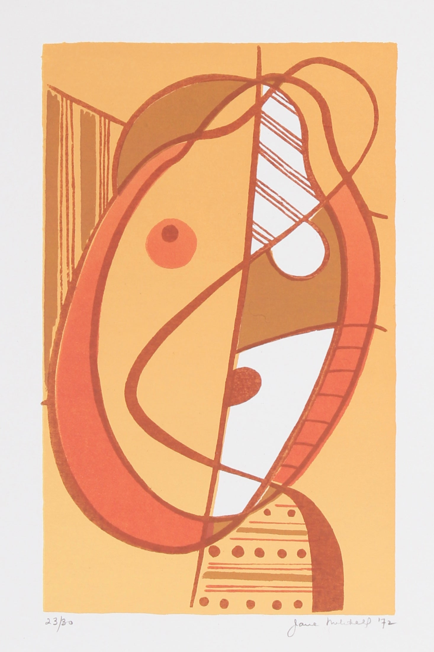 <i>Small Head</i> <br>1972 Serigraph <br><br>#91498