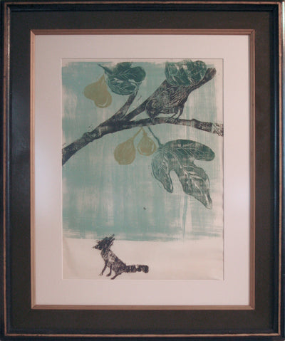 <i>The Fox And The Crow</i><br>1962 Woodcut<br><br>#8590