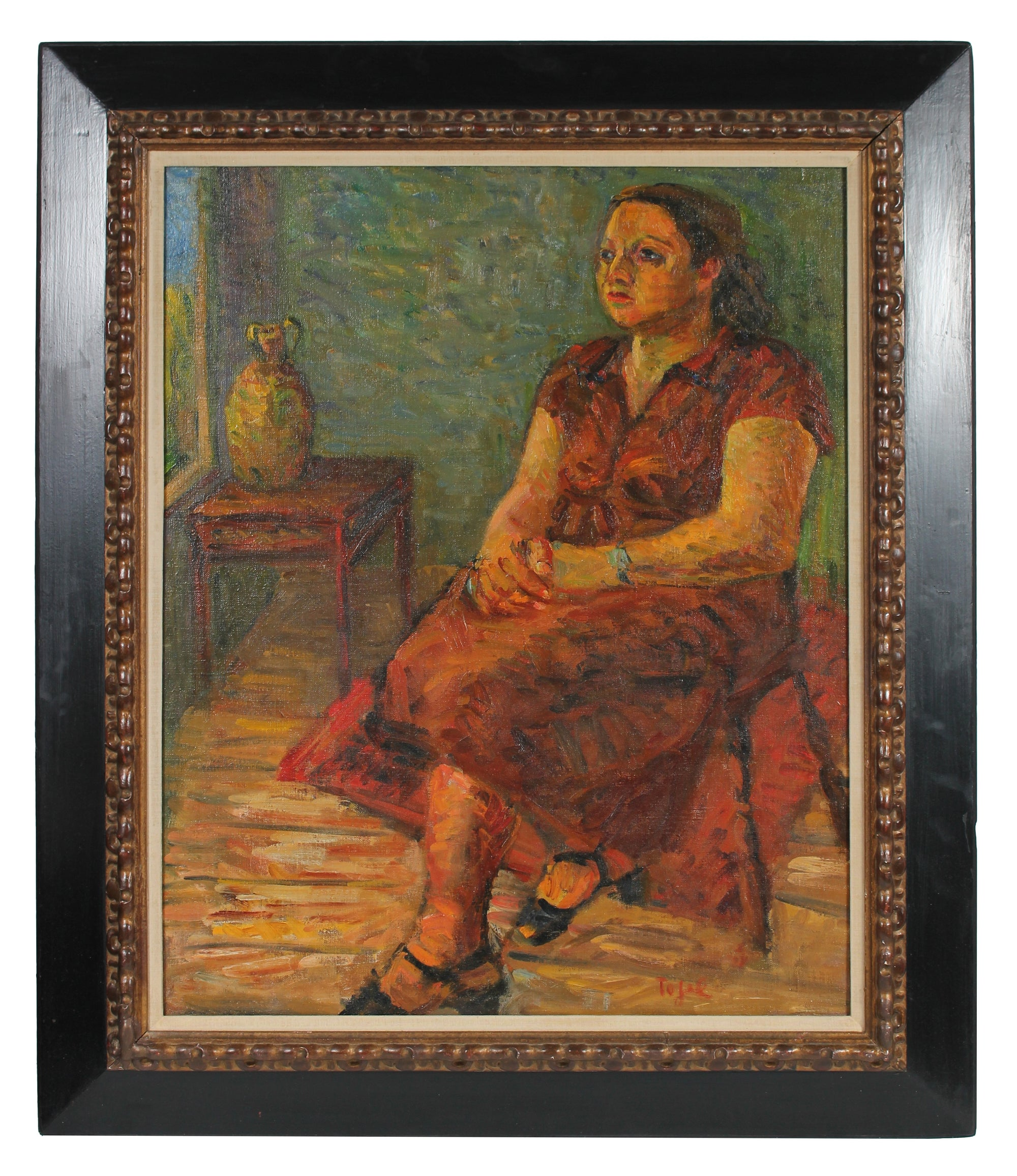 <i>Portrait of a Woman</i> <br>1935 Oil <br><br>#13993
