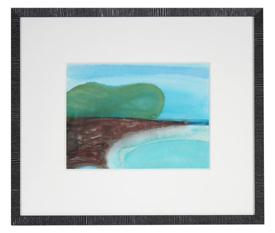 <I>Oleana Point IV</i>, Hawaii<br>2017 Watercolor & Gouache<br><br>#92139