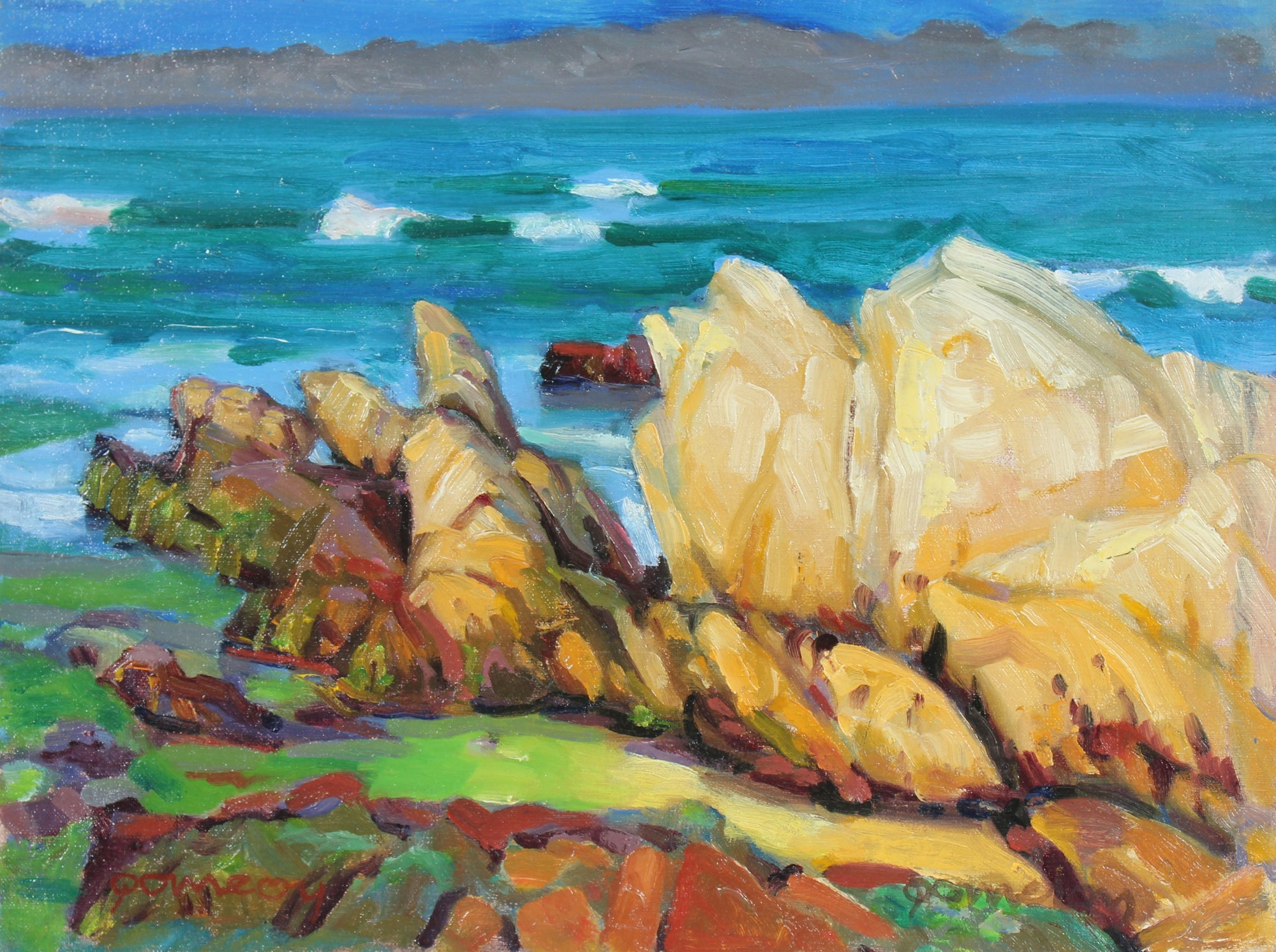Coastal Seascape<br>Mid-Late 20th Century Oil<br><br>#93172