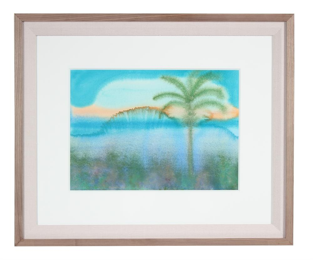 <i>Sunrise</i>, Hawaii<br>2017 Watercolor & Gouache<br><br>#92129