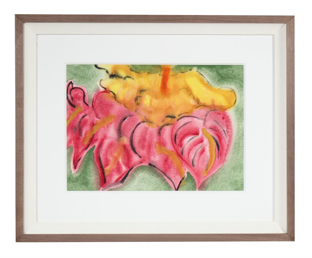 <i>Anthurium & Hibiscus</i>, Hawaii<br>2017 Ink, Watercolor & Gouache<br><br>#92125