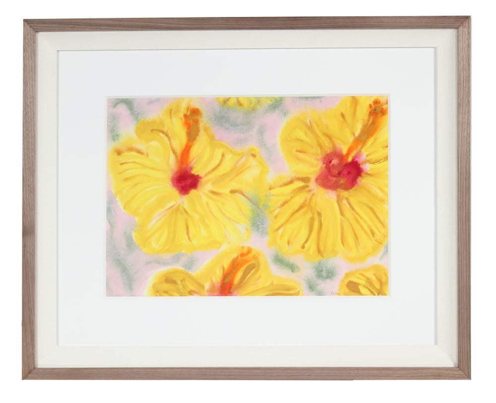 <i>Yellow Hibiscus</i>, Hawaii<br>2017 Watercolor & Gouache<br><br>#92127