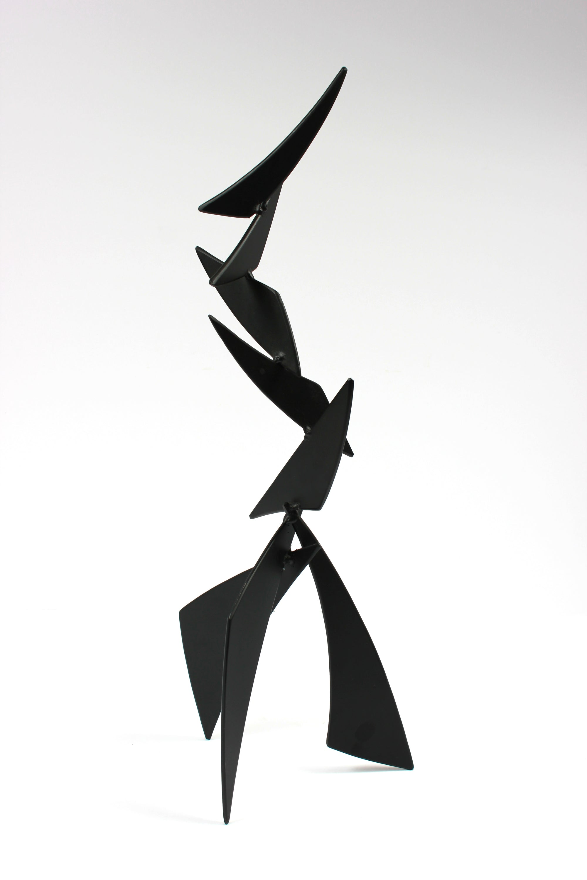 Striking Angular Late 20th Century Multi Media Metal Sculpture <br><br>#A9324