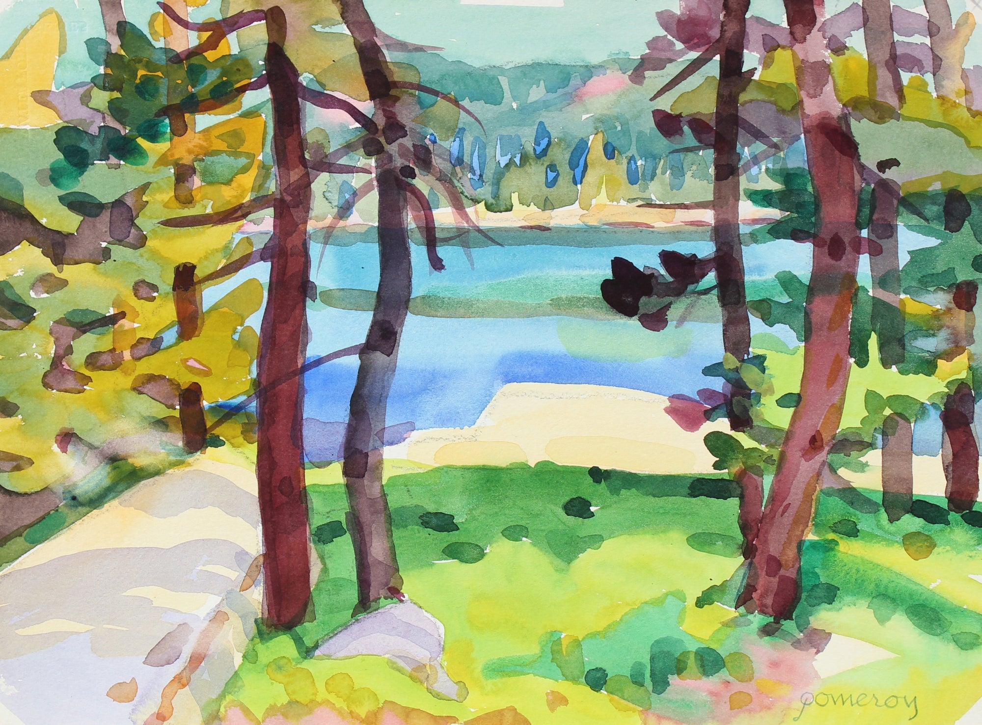 <i>Silver Lake</i> <br>1998 Watercolor <br><br>#93529