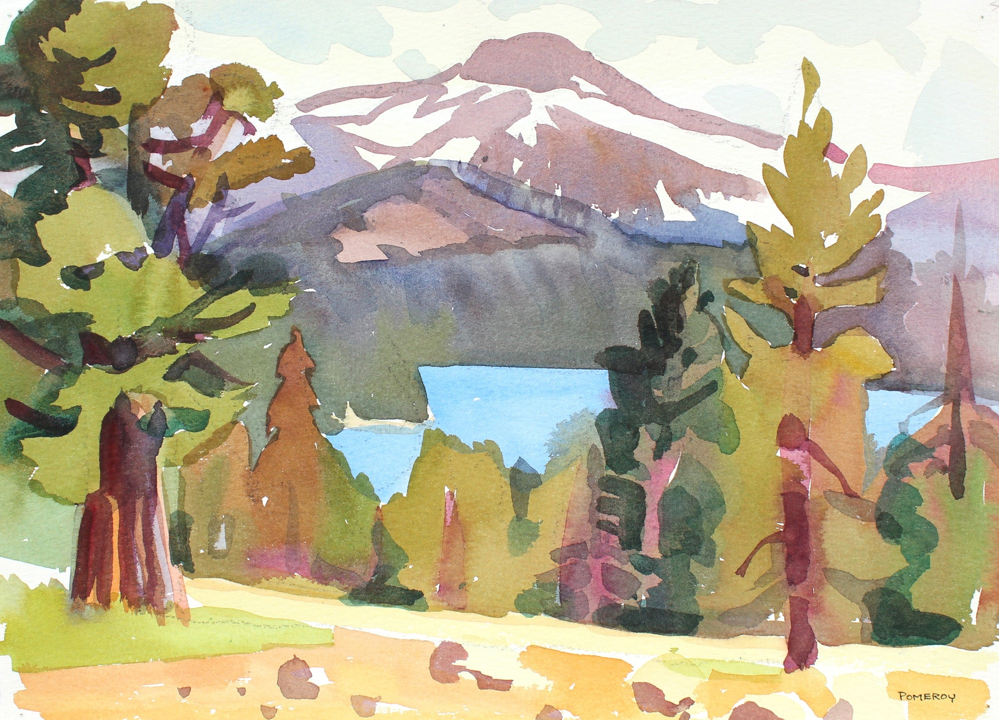 <i>Caples Lake</i> <br>1993 Watercolor <br><br>#93568