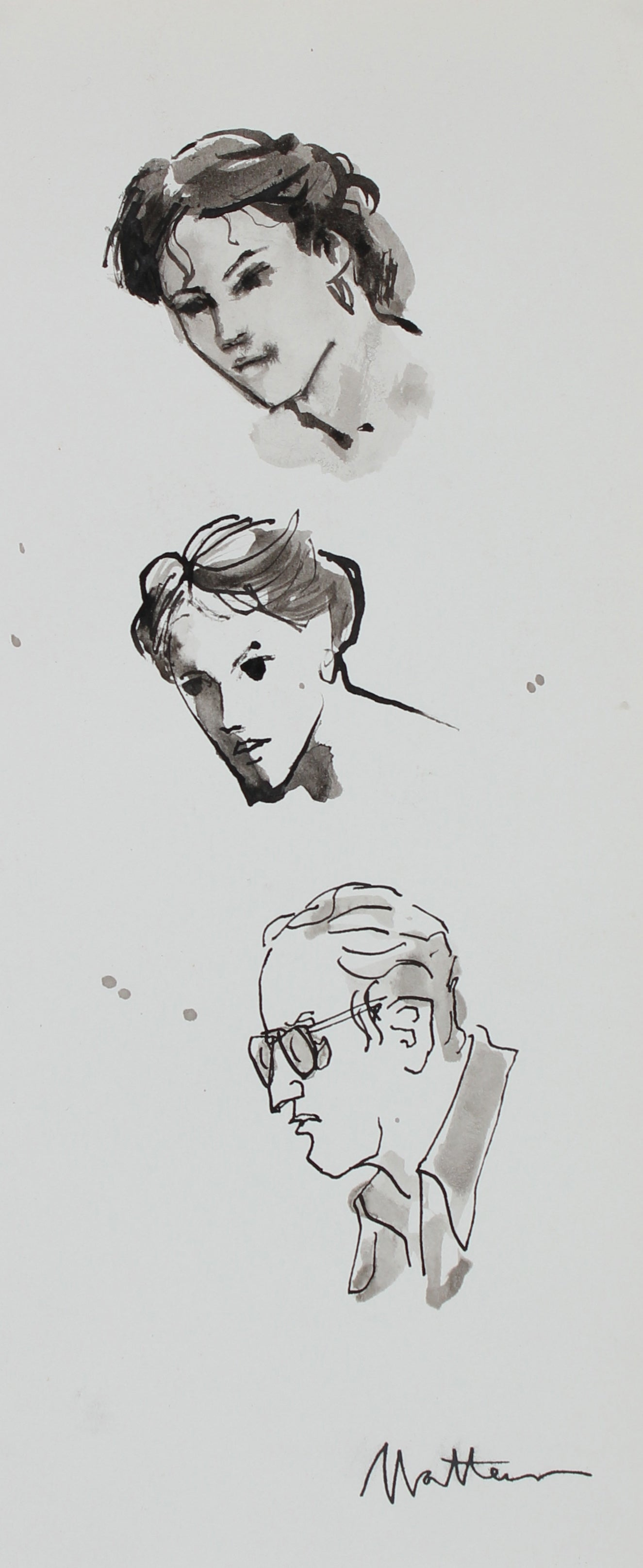 Faces Study <br>20th Century Ink <br><br>#94043