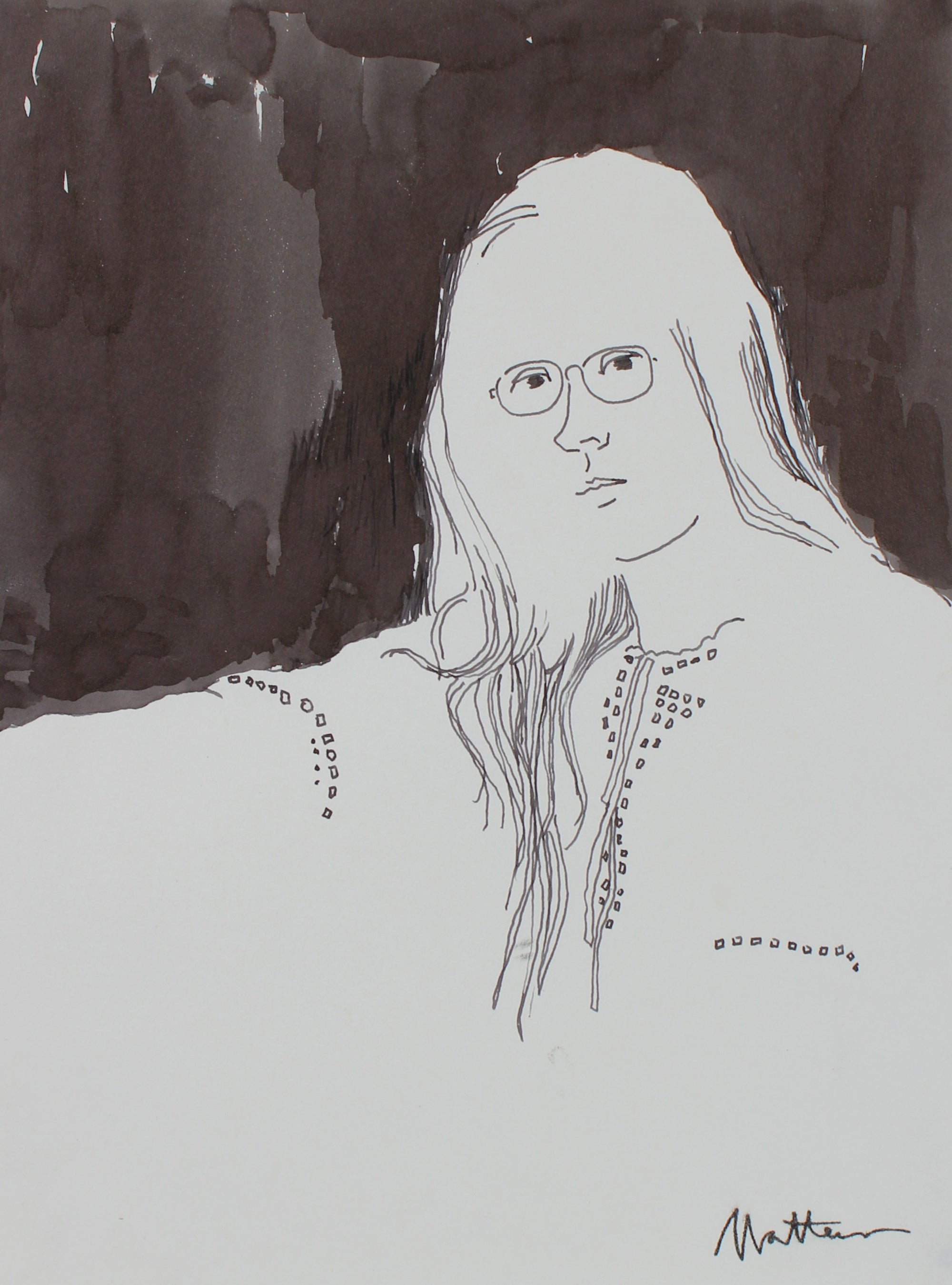 70's Monochromatic Portrait <br>20th Century Ink <br><br>#94047