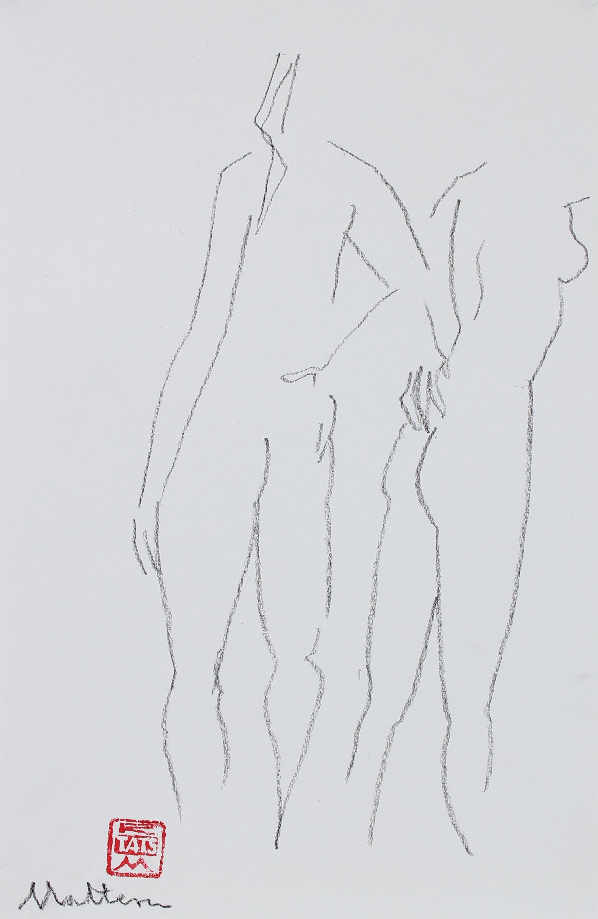 Minimalist Pair of Figures <br>2002 Charcoal <br><br>#94050