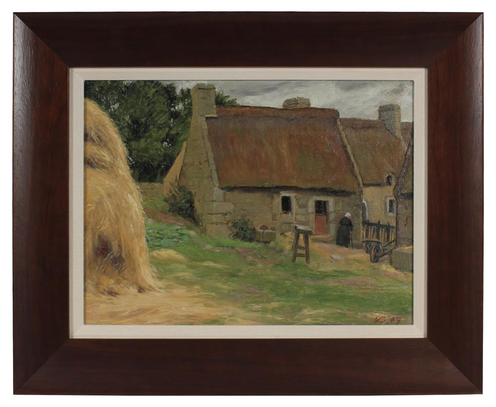<i>Farm in Brittany</i> <br>1903 Oil <br><br>#94379