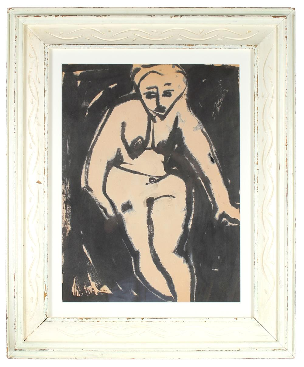 Modernist Standing Nude<br>1963-65 Ink on Paper<br><br>#72068