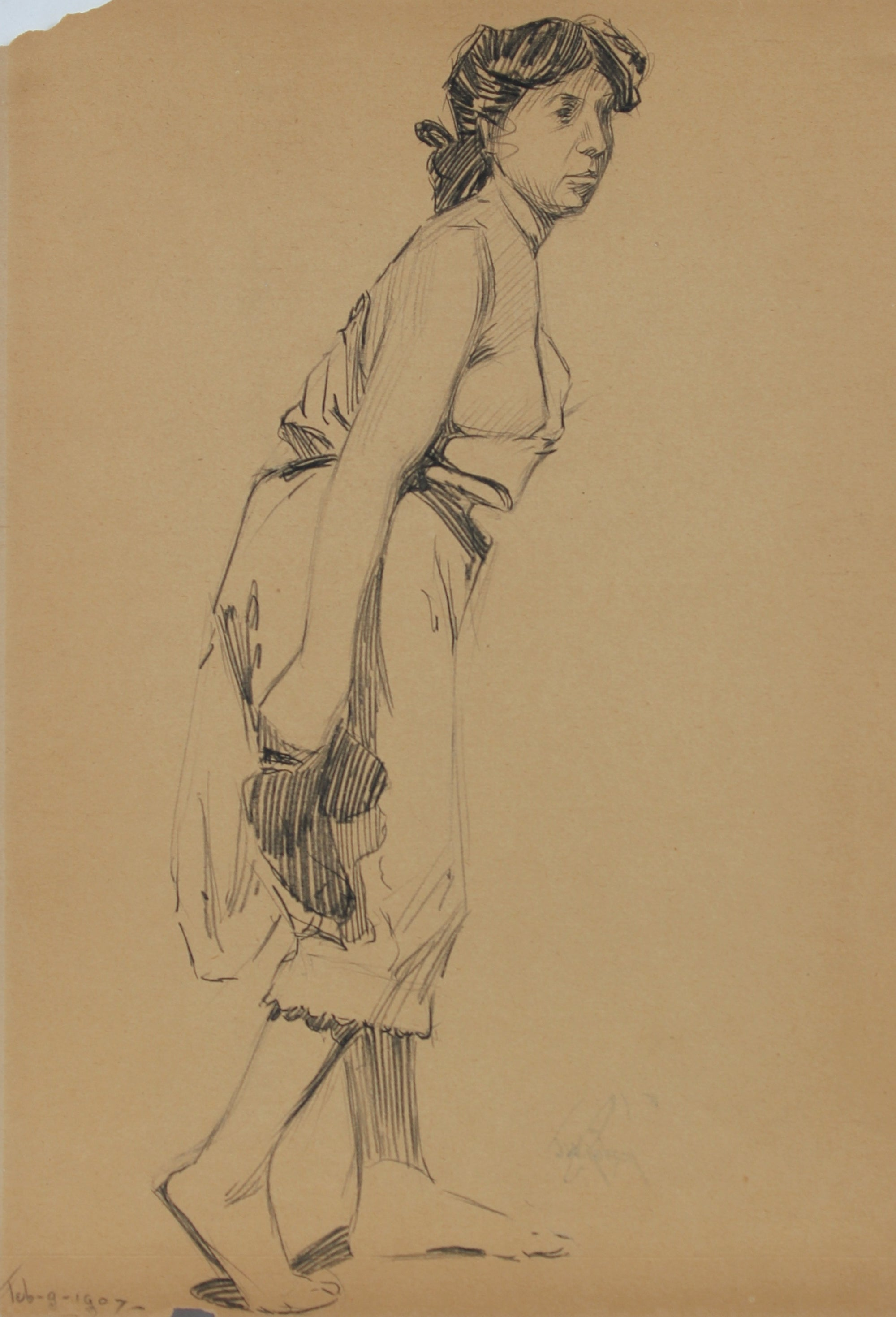 Female Figure - Paris<br>Graphite, 1907<br><br>#0133