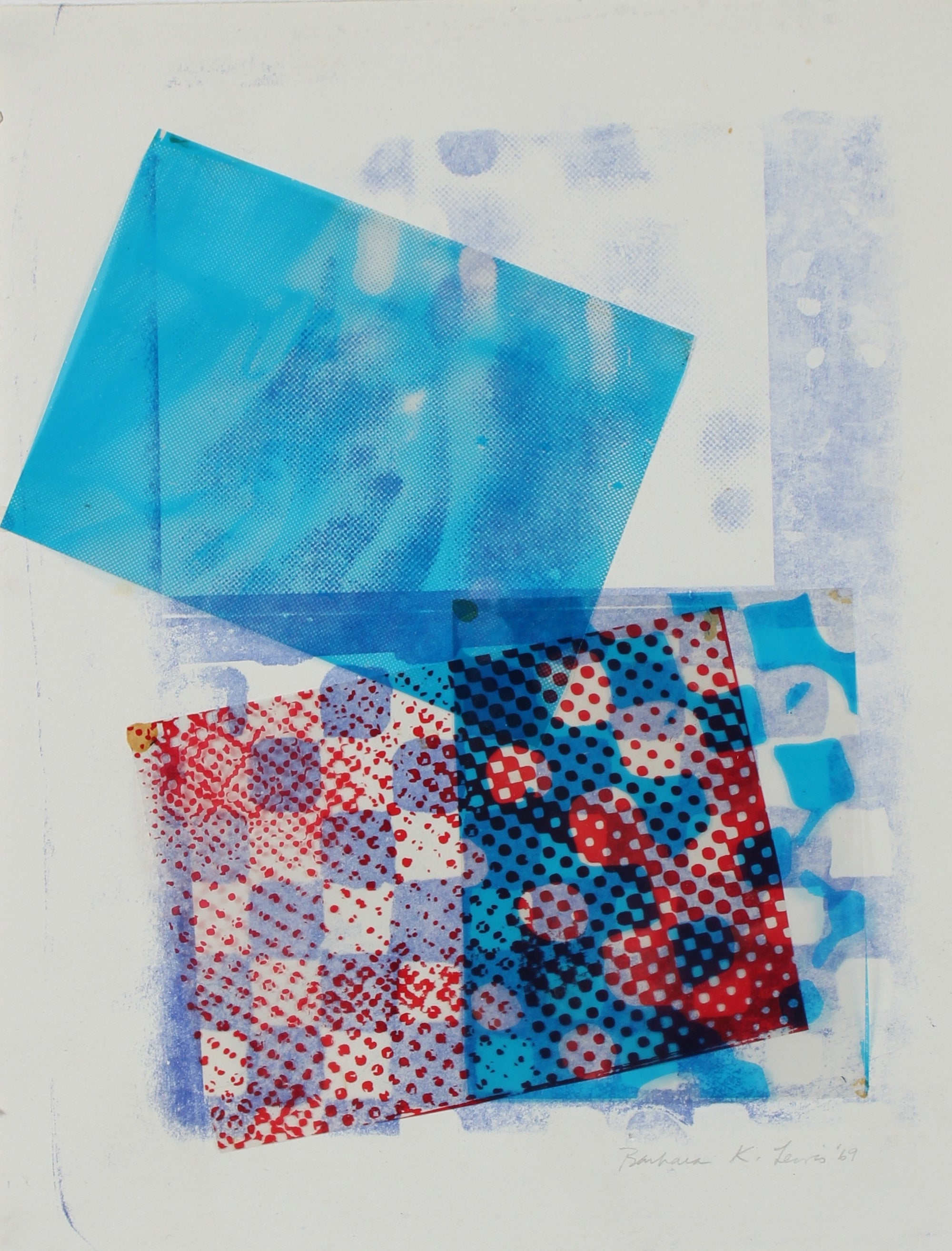 Geometric Mixed Media Photograph & Acetate Collage, 1969<br><br>#96331