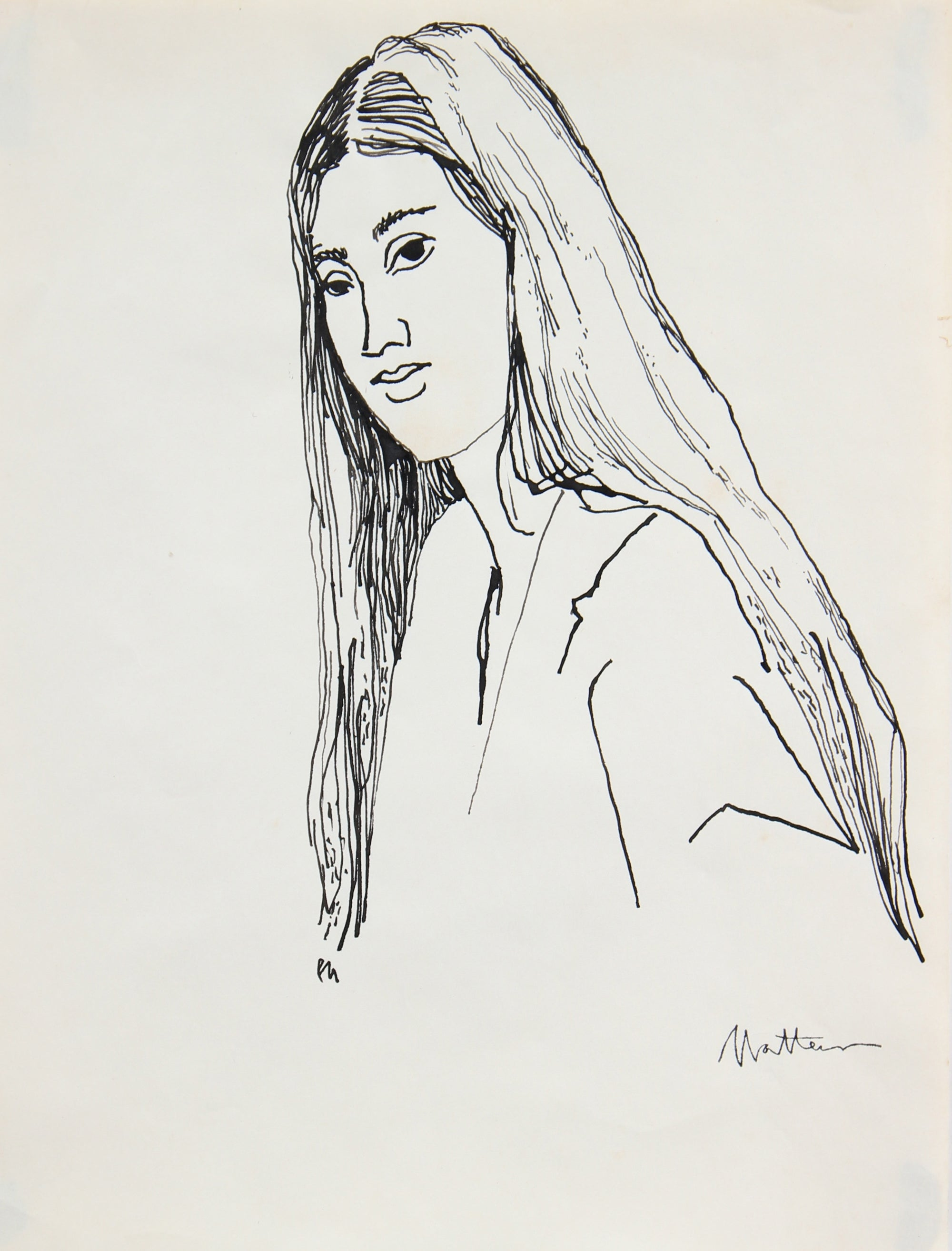 Female Portrait Study <br>20th Century Ink <br><br>#96554