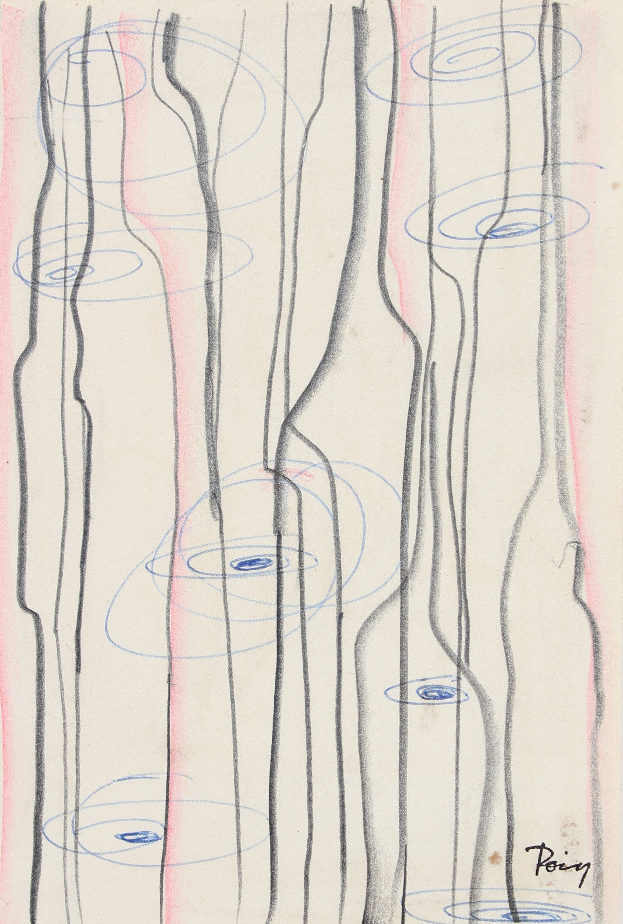 <i>Intra-Venous</i><br>Late 1960s Ink, Graphite & Colored Pencil<br><br>#96864