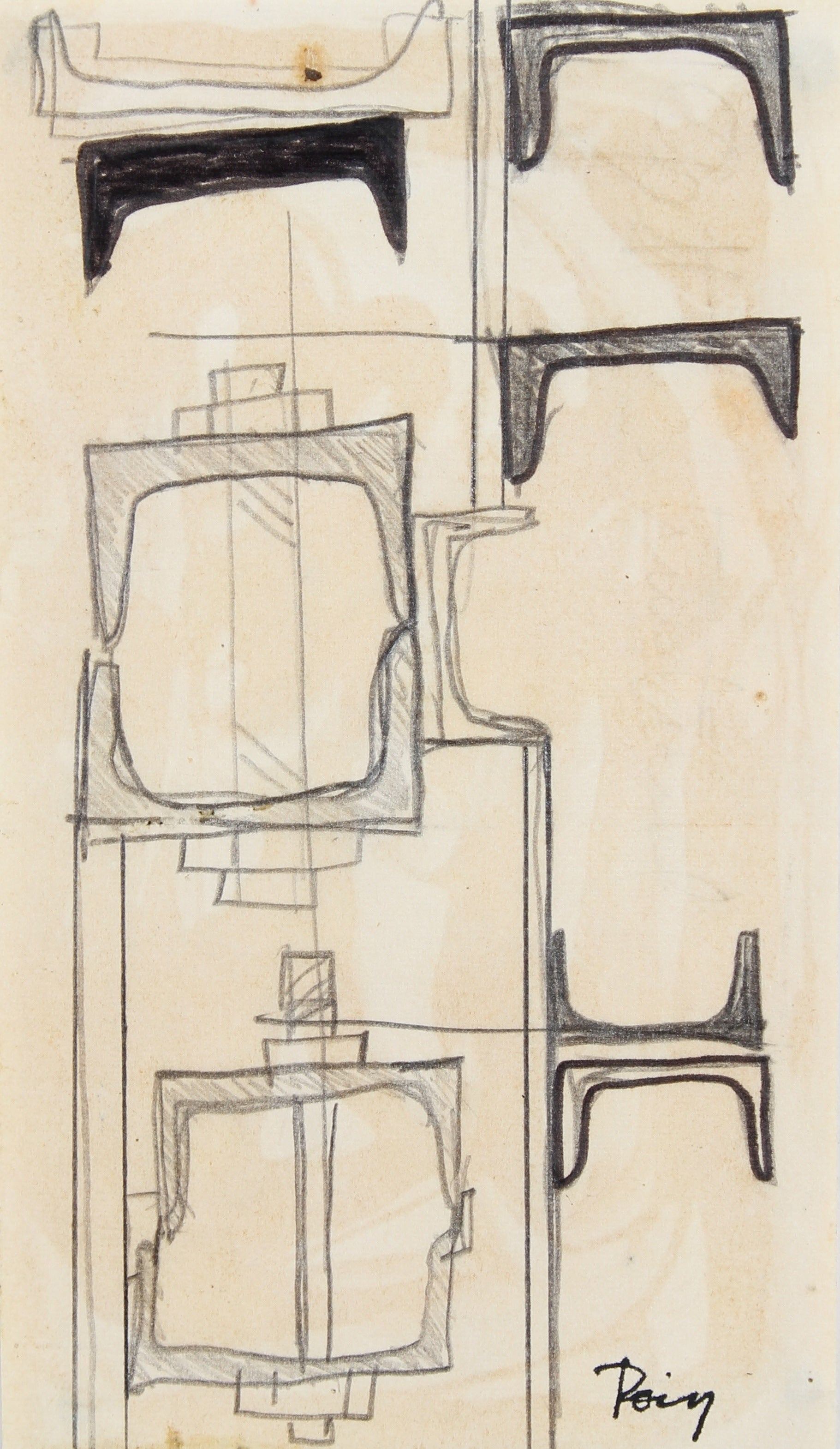 <i>Structural</i><br>Late 1960s Ink & Graphite<br><br>#96865