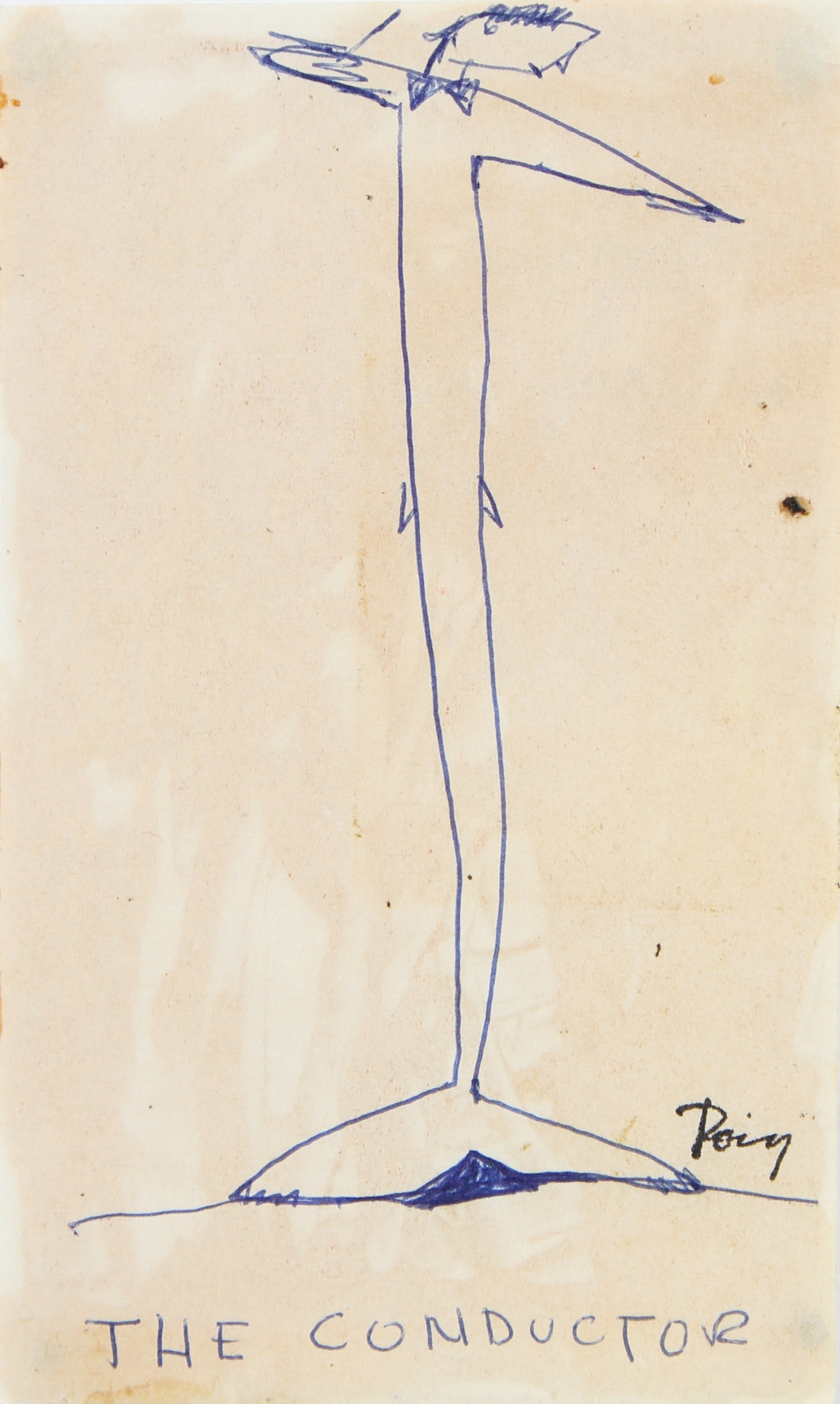 <i>The Conductor (the birds, with clay feet)</i><br>Late 1960s Ink<br><br>#96871