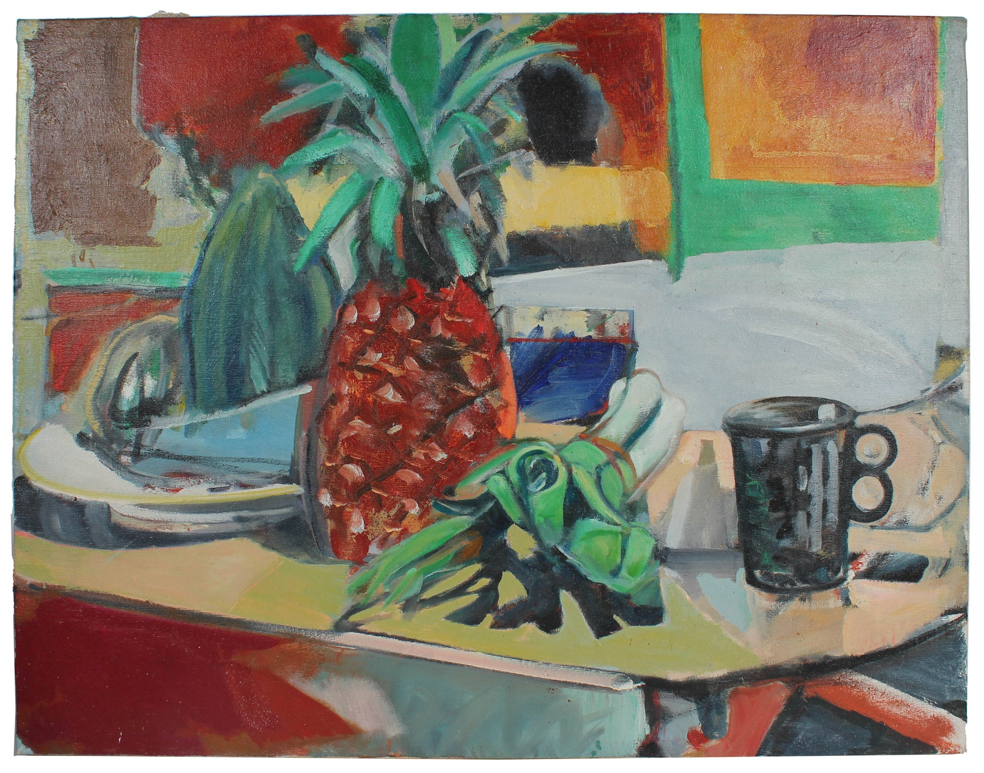 <i>Still Life with Pineapples</i><br>1975 Oil<br><br>#A3218