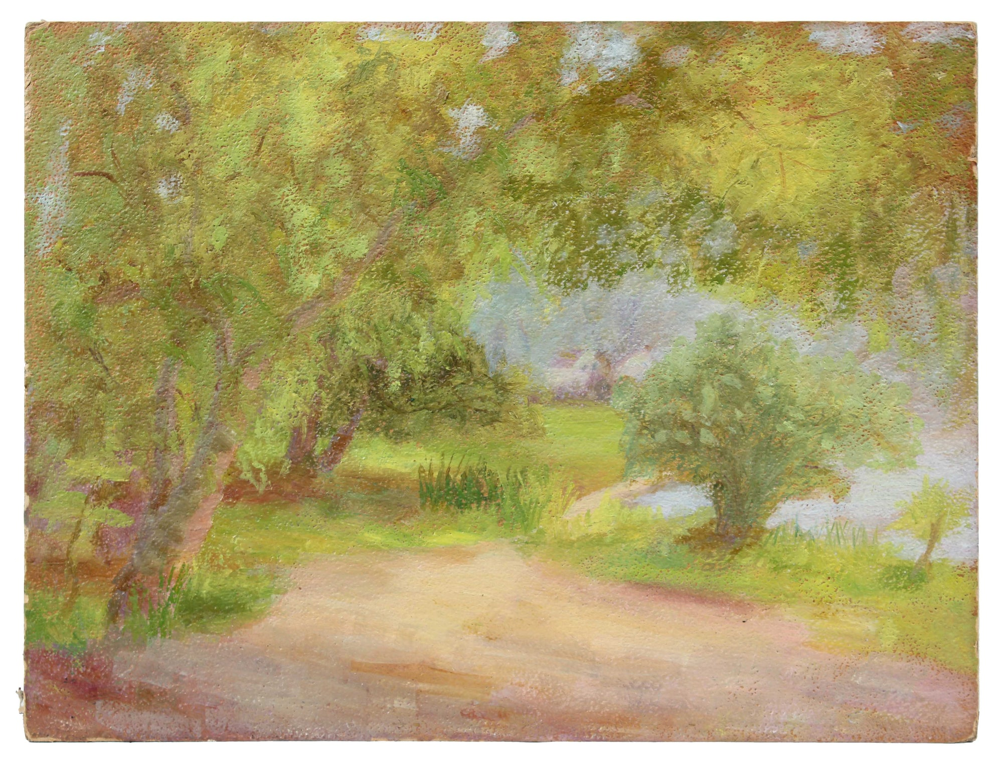 Path Through the Trees<br>1900-30s Oil<br><br>#A3525
