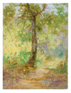 Warm Impressionist Tree<br>1900-30s Oil<br><br>#A3528