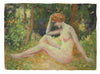 Impressionist Nude in the Forest<br>1900-30s Oil<br><br>#A3535