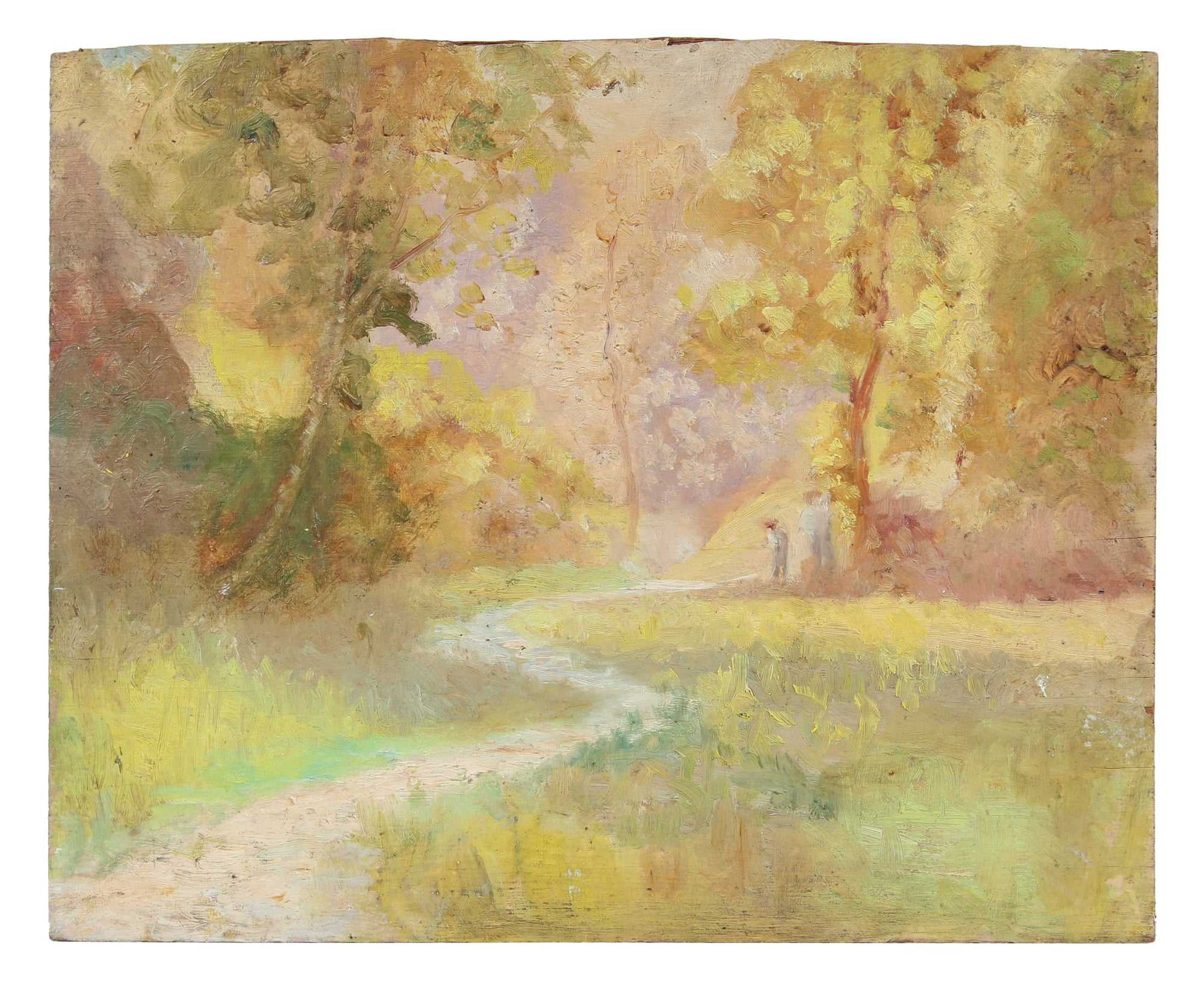 Forest Path Through the Trees<br>1900-30s Oil<br><br>A3536