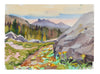 <i>Above Lake Alpine: Ebbets Pass</i> <br>20th Century Watercolor <br><br>#A3606