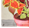 Potted Fern Watercolor<br>Mid-Late 20th Century<br><br>#A3614