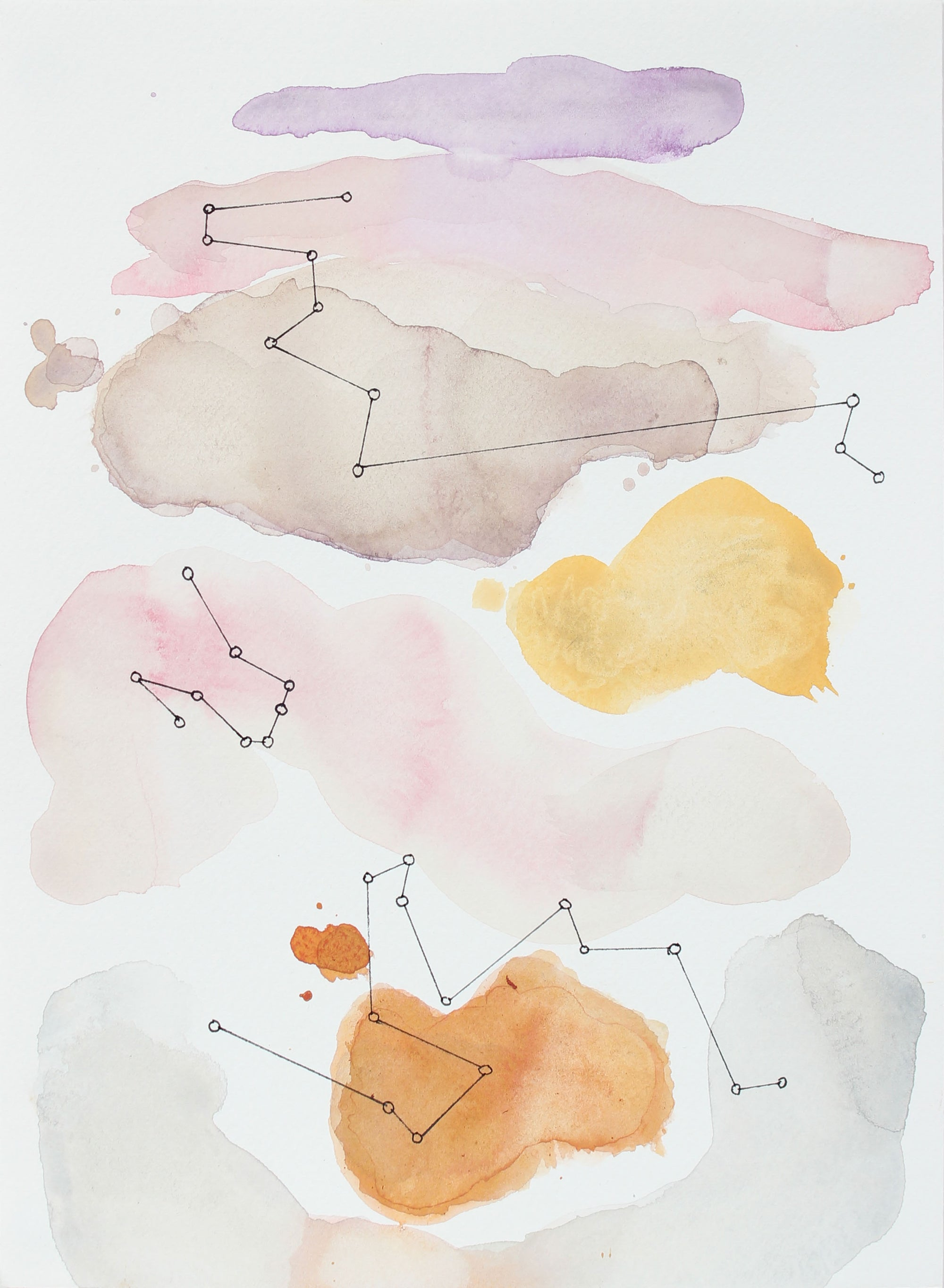 <i>Evening Sky Constellations I</i><br>2018 Gouache & Ink<br><br>#A3777
