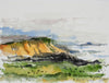 Rocky California Coastal Abstract <br>20th Century Watercolor <br><br>#A3887