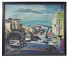 San Francisco Street with Trolley<br>Mid-Late 20th Century Oil<br><br>#A3906