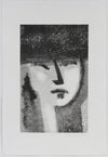 Monochromatic Abstracted Portrait <br>1990-2000s Monotype <br><br>#A5366