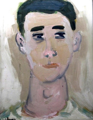 Portrait of a Man<br>Mid Century Oil<br><br>#2222A