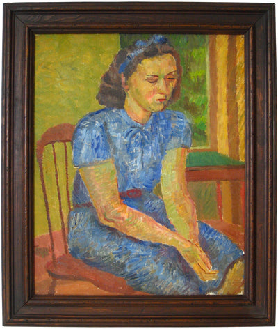 <i>Portrait of a Young Woman</i> <br>1949 Oil <br><br>#13953