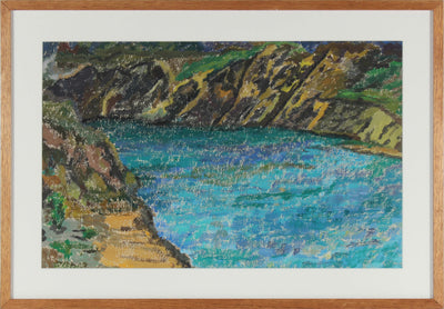 River Through the Hills<br>Casein on Paper<br><br>#15101