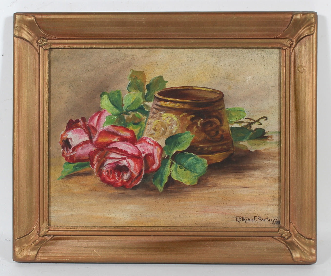 Still Life with Pink Roses <br>1929 Oil <br><br> #53832