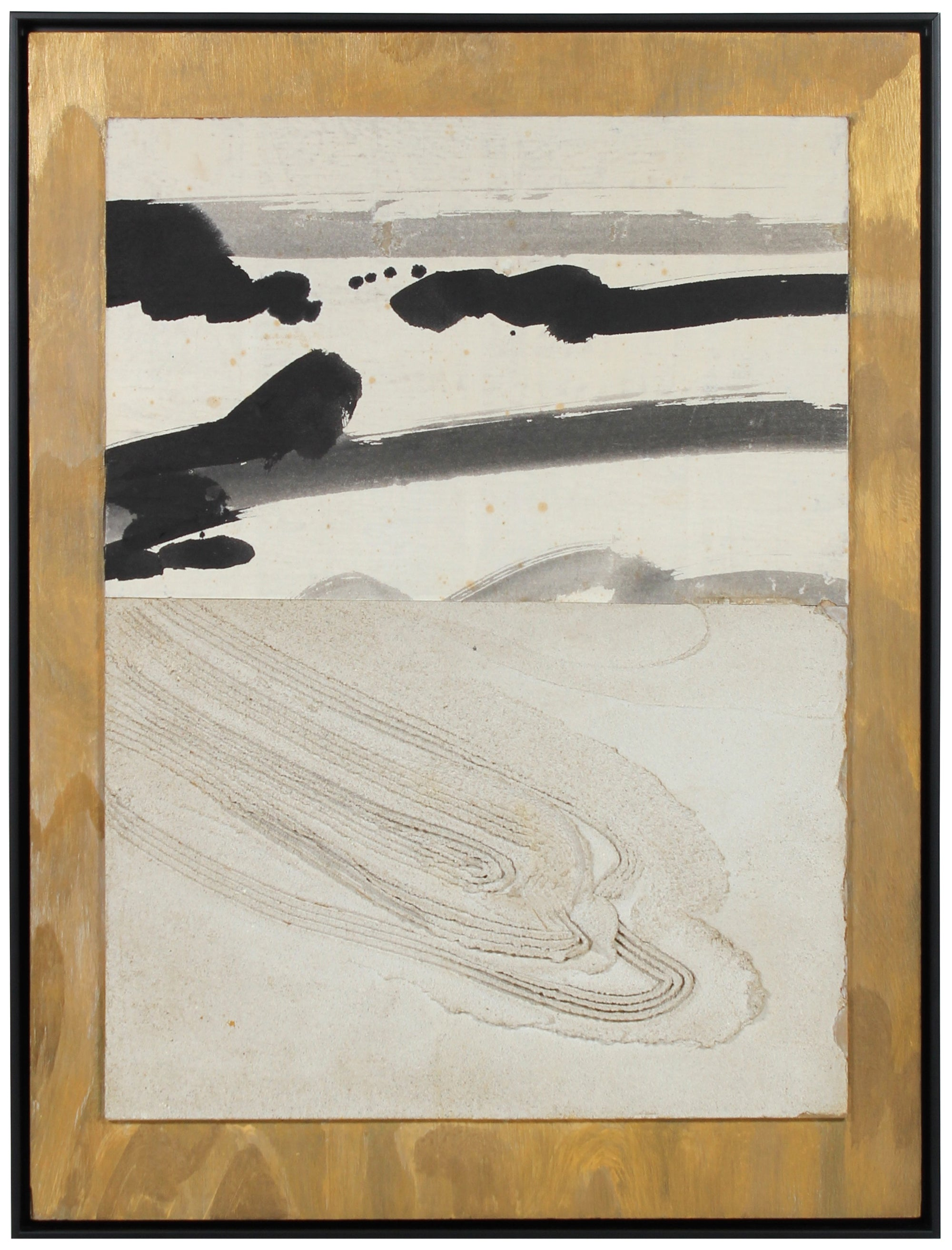 Deconstructed Landscape<br>Cement, Ink Wash & Metallic Paint<br><br>#55850