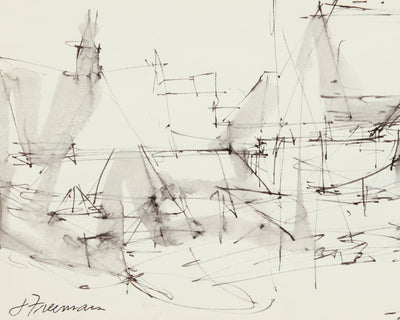 Frenetic Deconstructed Building<br>1976 Ink <br><br>#A8308