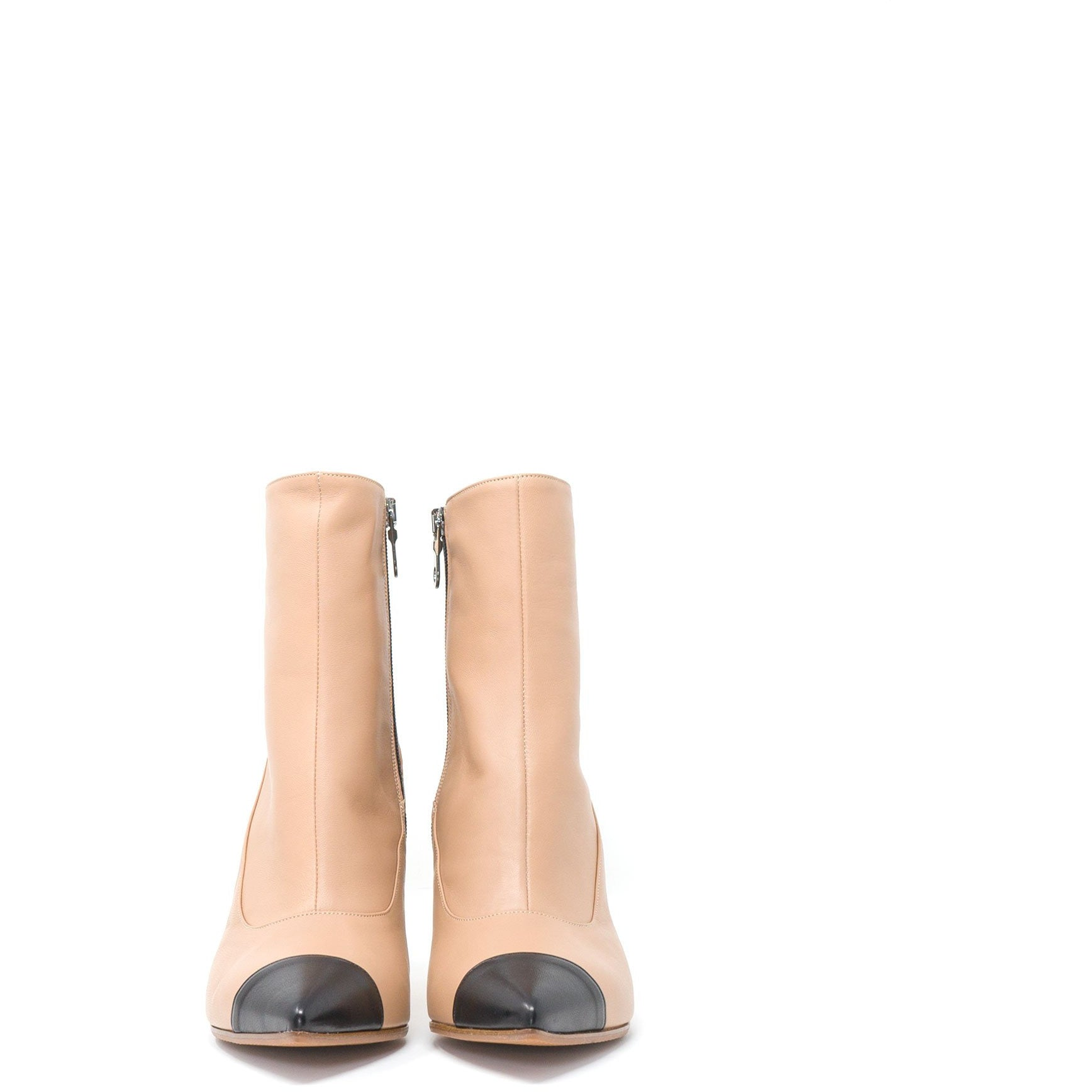 DDL4612 T70 Women Booties in Beige - Jennifer Tattanelli