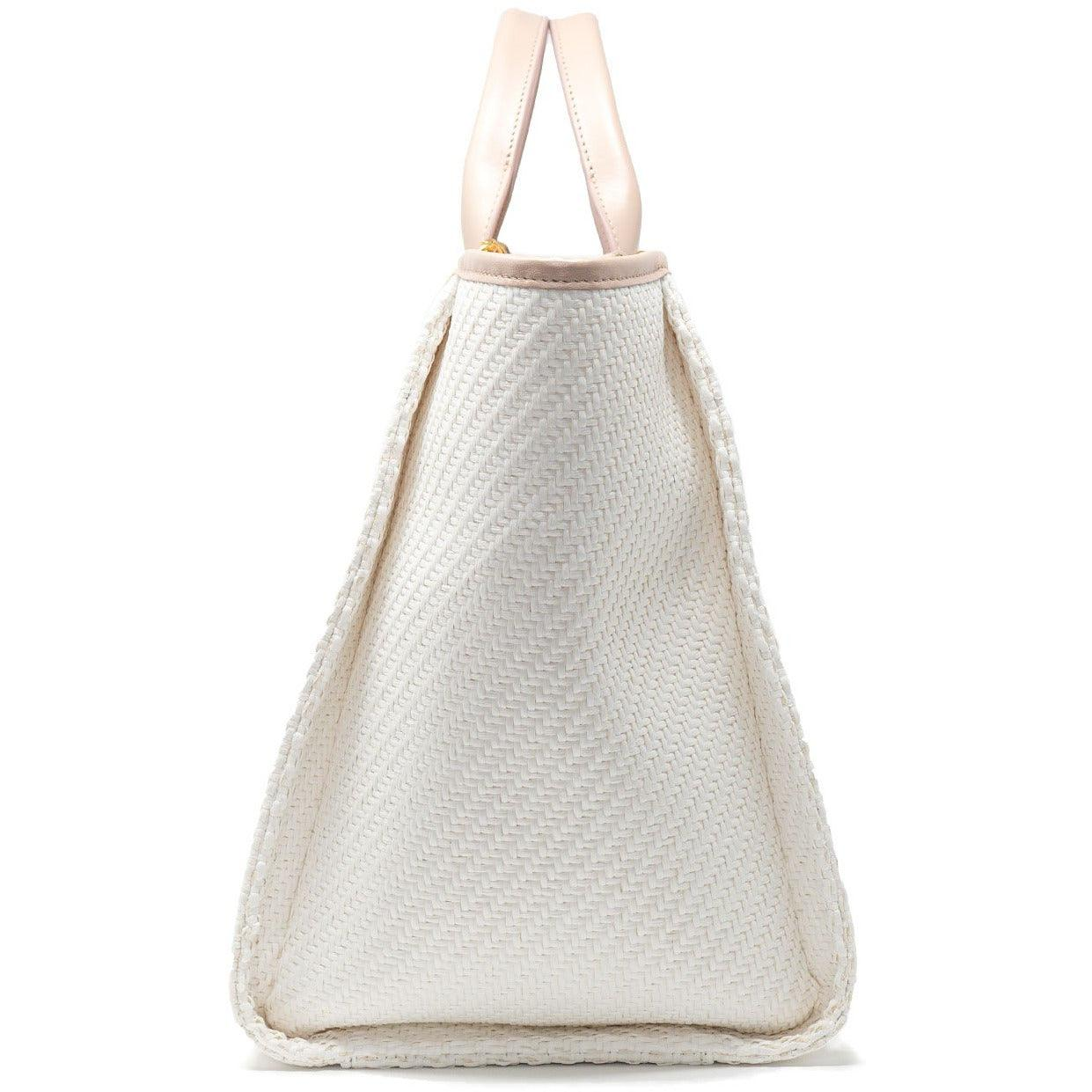 The Hamptons Large Shopping Bag in Vanilla Nude