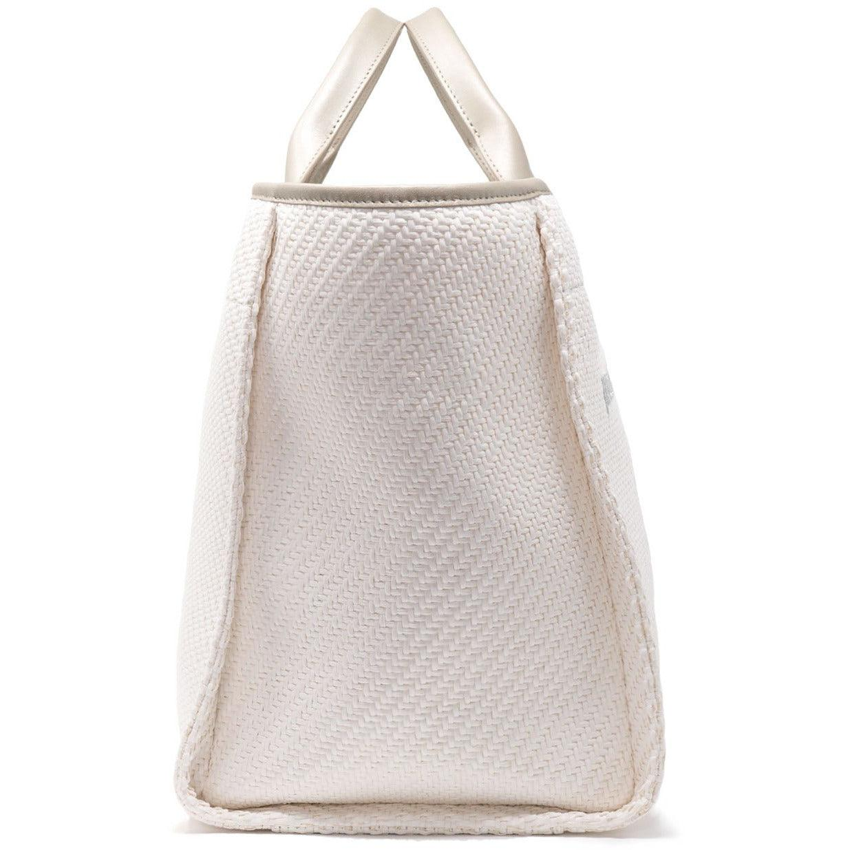 The Hamptons Large Shopping Bag in Pearl Beige