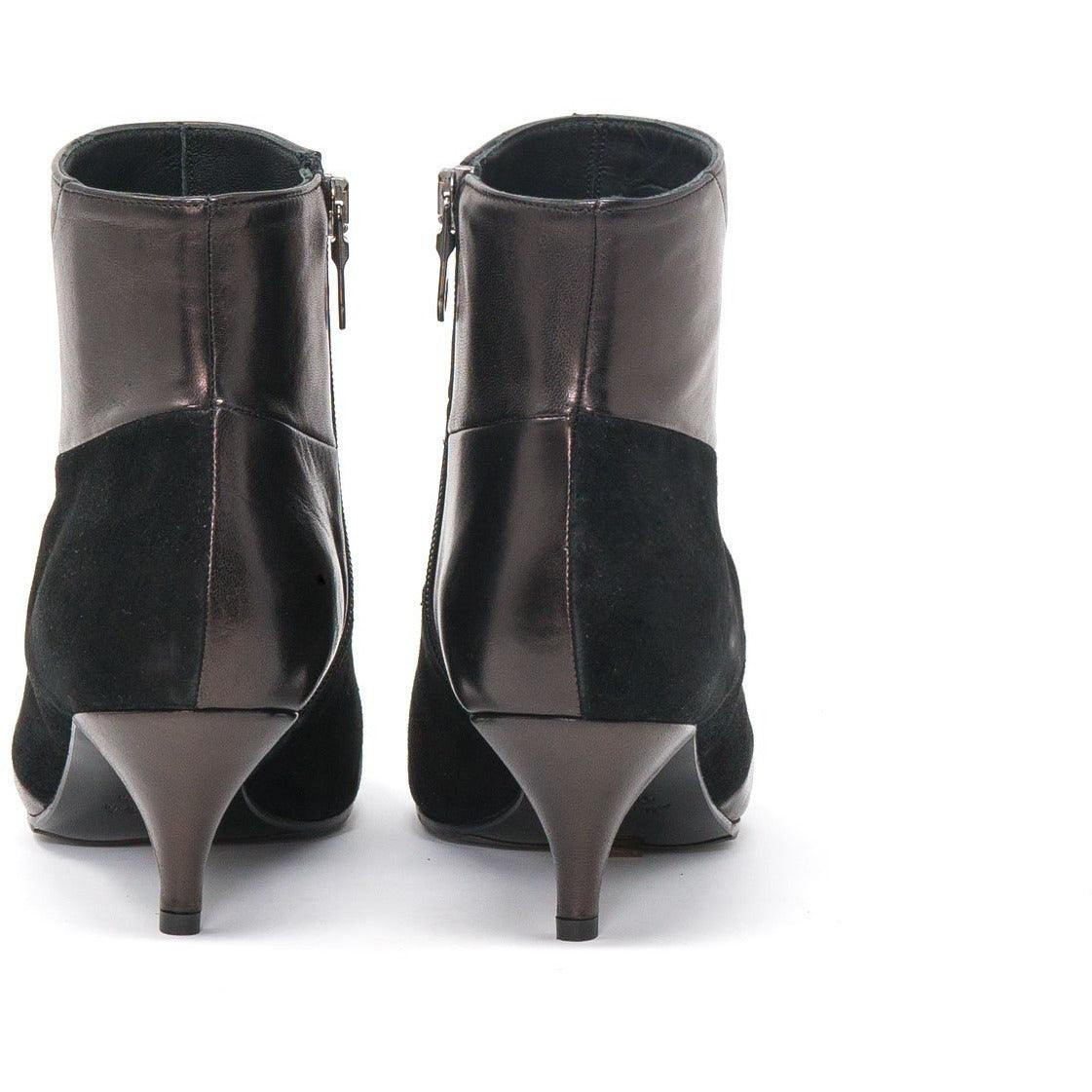 Women Kitten Heel Ankle Booties in Black