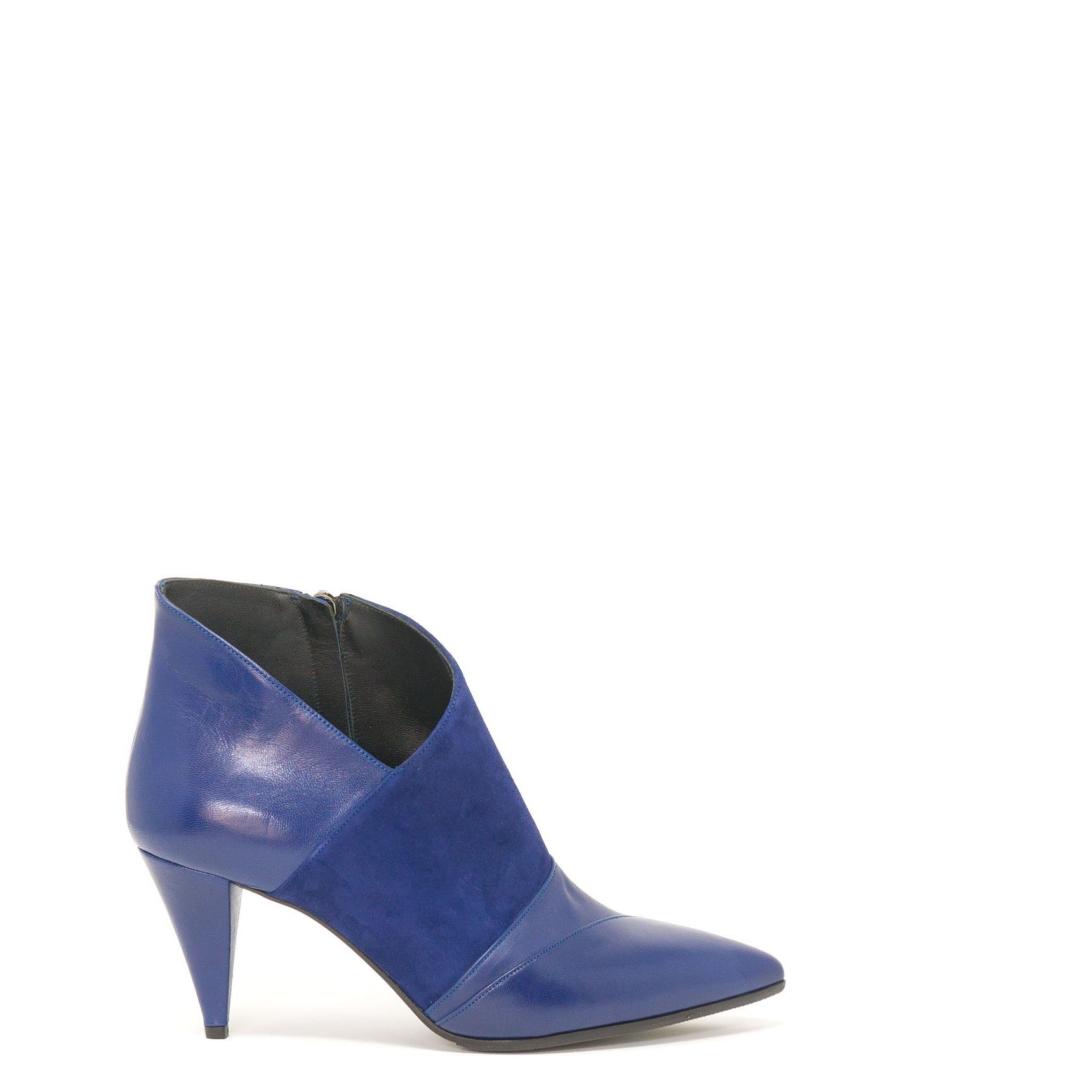 DDL4630 T70 Women Booties in Blue - Jennifer Tattanelli