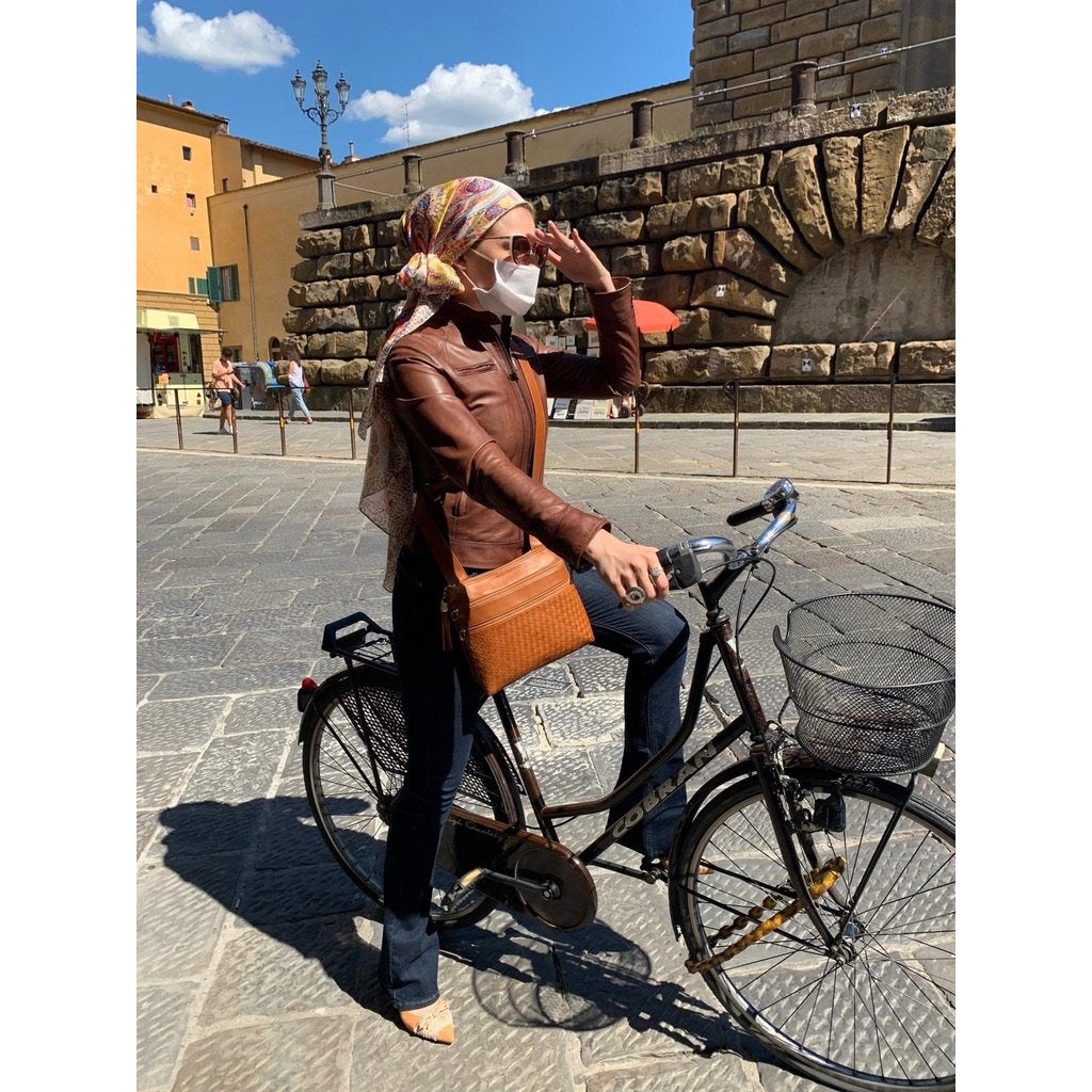 Biker Women Leather Leather in Cuoio - Jennifer Tattanelli