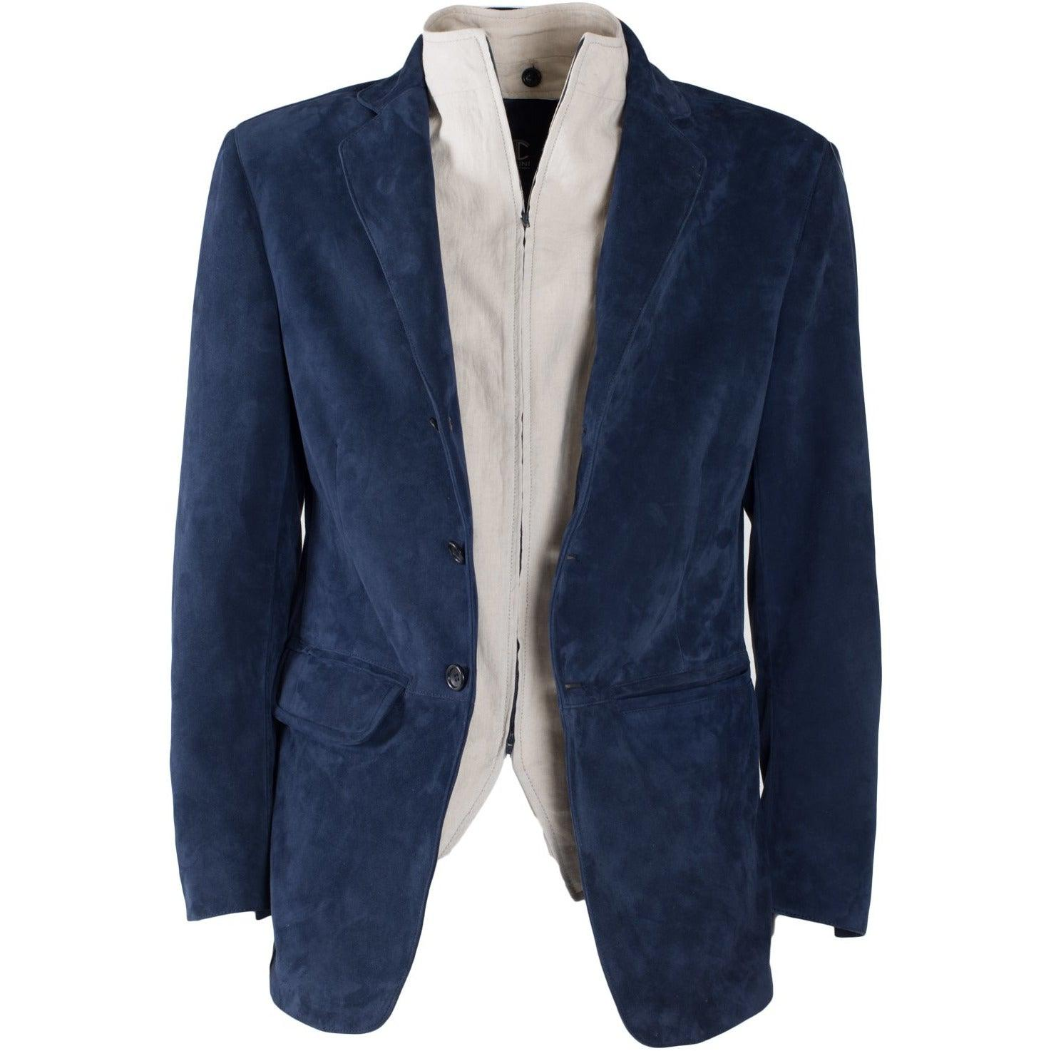 Jennifer Tattanelli crafted in Florence this men leather jacket,meticulously designed, contemporary and sartorial finished, this soft suede blazer is special and unique